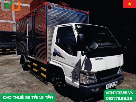 xe tải 1.5 tấn thùng kín cho thuê tại Liên Kết Việt