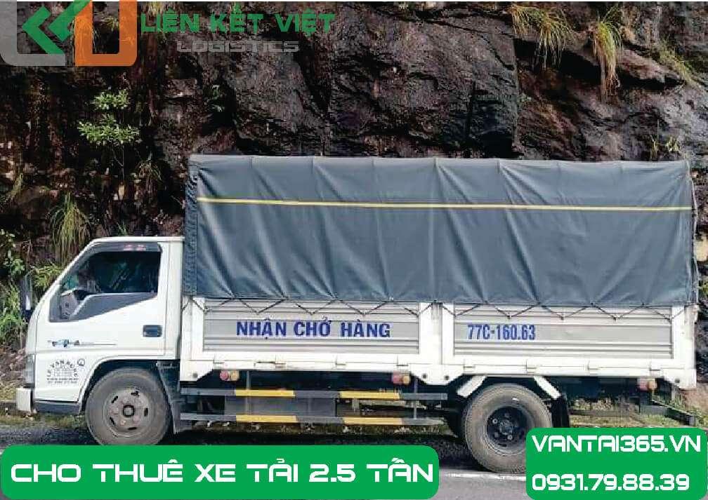 Xe tải 2.5 tấn cho thuê tại Liên Kết Việt
