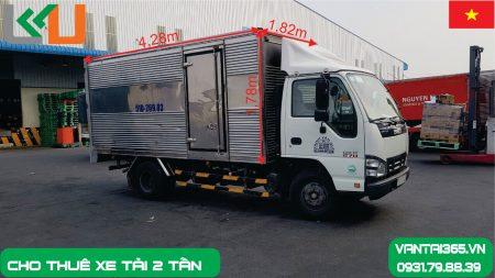 Xe tải 2.5 tấn thùng kín cho thuê tại Liên Kết Việt