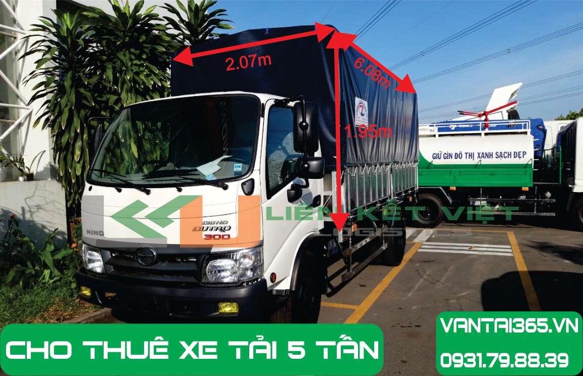 Xe tải Isuzu 5 tấn cho thuê