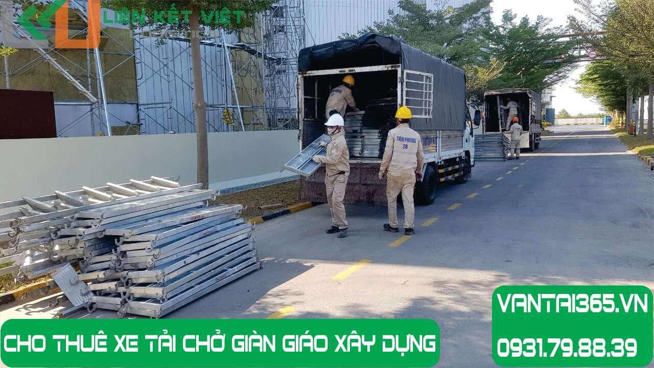 Xe tải chở giàn giáo xây dựng cho thuê tại Liên Kết Việt