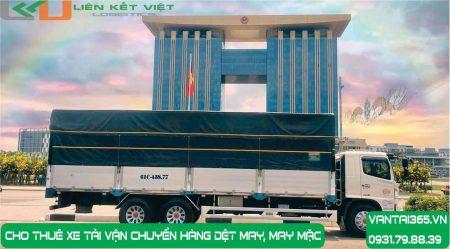 Xe tải cho thuê vận chuyển hàng dệt may, may mặc tại Liên Kết Việt