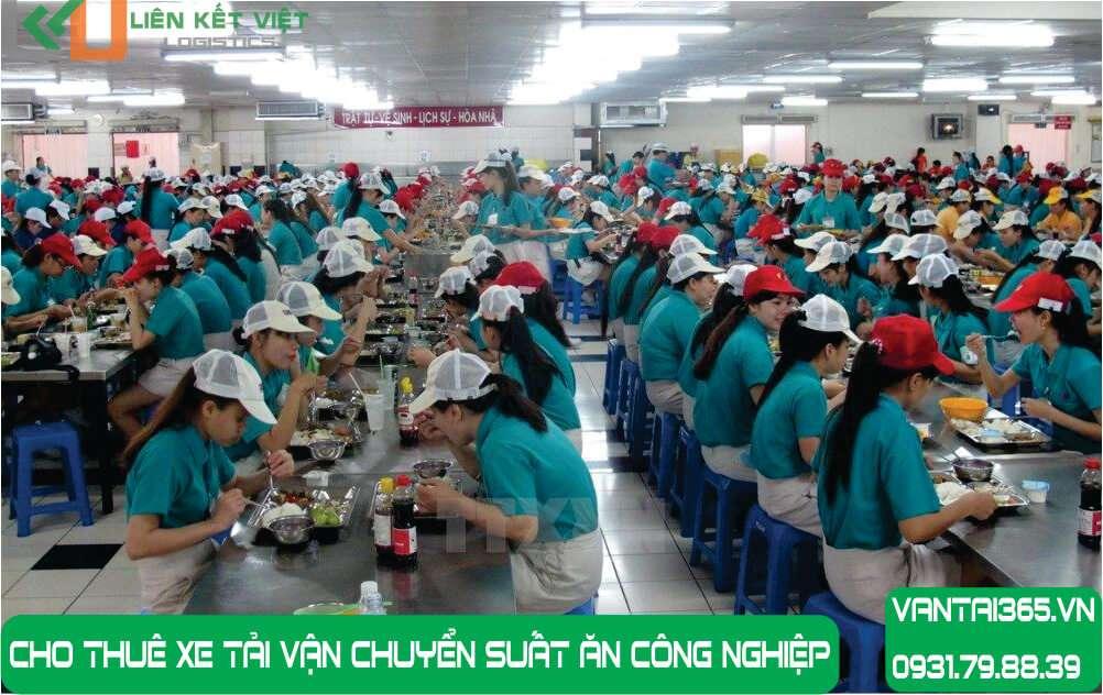 Cho thuê xe tải nhỏ vận chuyển suất ăn công nghiệp tại Liên Kết Việt