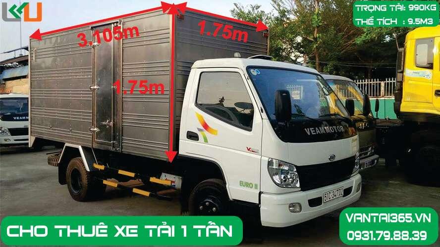 Xe Tải 1 tấn thùng kín Liên Kết Việt